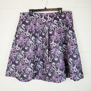 Purple Floral Skirt - Lane Bryant